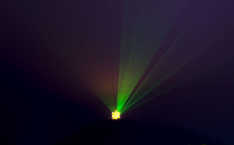 Detailaufnahme von Lichtstrahl